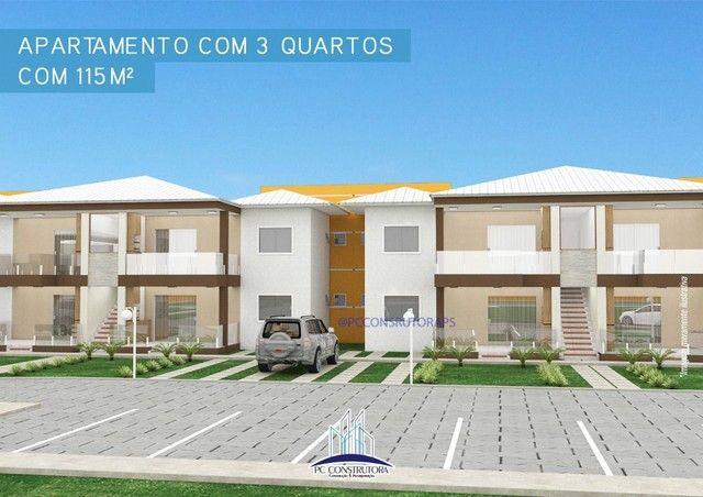 Apartamento com 3 dormitórios à venda, 115 m² por R$ 535.000 - Praia do Mutá - Porto Segur
