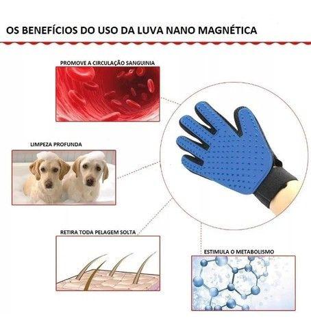 Luva Nano Magnética Tira Pelos Pets Cães e Gatos - Foto 5