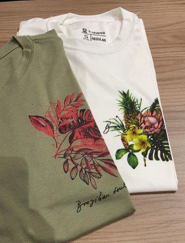 Short e camisa masculina  - Foto 3