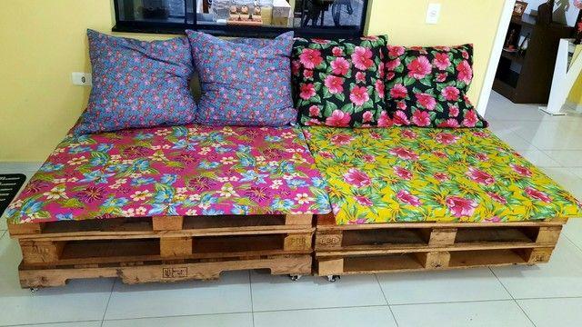 Sofá de pallet rústico Chita&Chitão. - Foto 4