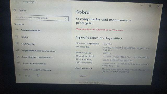 Vendo ou troco  netbook windows 10 troco em tablet  - Foto 4