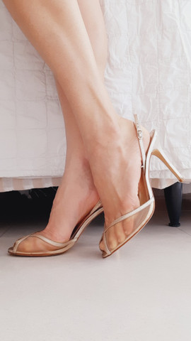 Sandália dourada Luxo
