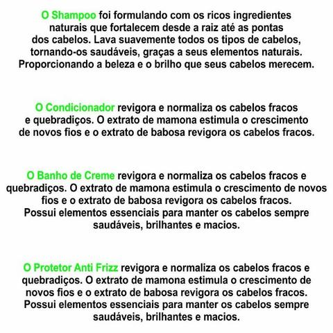 Kit Mamona e Babosa Hábito Cosméticos Hidratação Cresce Cabelo Óleo de Ricino Cauterização - Foto 2