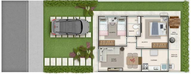Casa de 2/4 na laje em Condomínio - Região Jardim Cruzeiro e Feira IX - Ent Facilitada - Foto 15