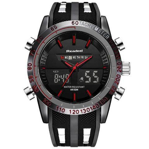 862acd675c6 Relógio de Pulso Masculino À Prova D Água LED Digital Quartz Men ...