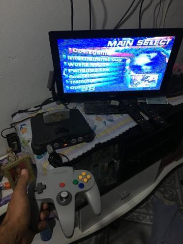 Nintendo 64 completo vendo ou troco em Psp ou 3ds
