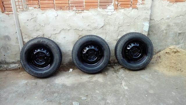 4 pneus completos - Foto 5