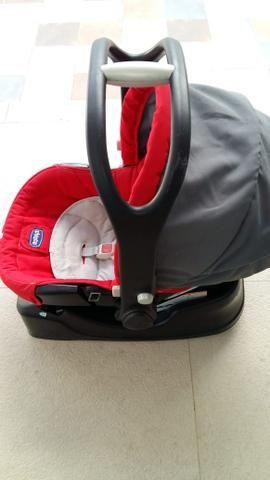 Vendo carrinho de bebê + bebê conforto + suporte para carro - Foto 6