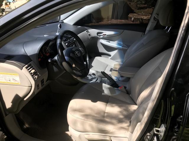Toyota Corolla 2.0 16v Flex 4p preto 11/12 c/ kit multimídia - Foto 7