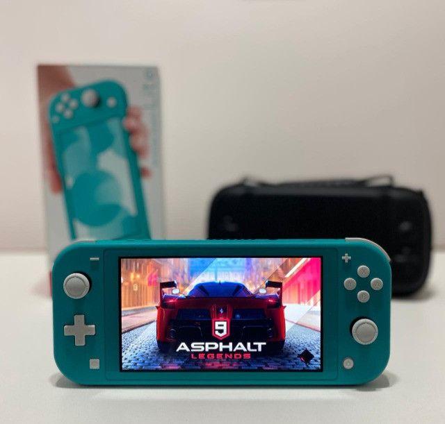 Nintendo Switch Lite - verde + case - Seminovo - Loja Física Centro de Niterói