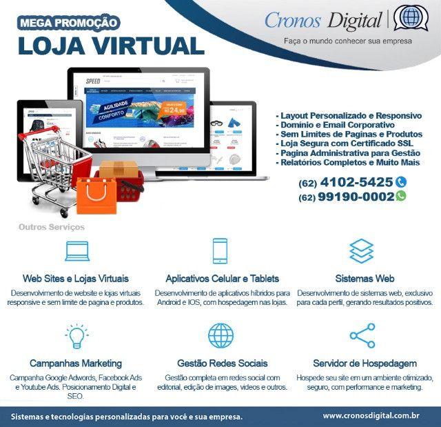 Desenvolvimento de Loja Virtual, Website, E-Learning, Marketing e Redes Sociais