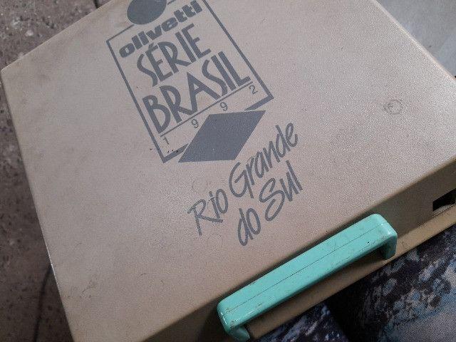 Máquina de escrever olivetti serie brasil 1992 - Foto 3