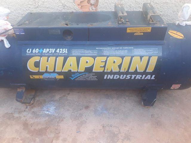 Compressor de ar alta pressão 60 pcm 425 litros - Chiaperini CJ 60+ AP3V 425L<br> - Foto 3