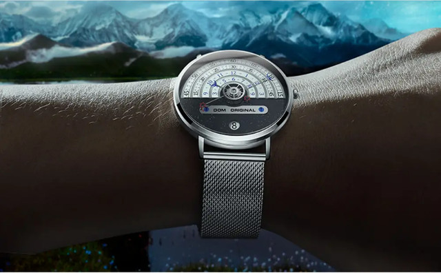Dom M-1288 Relógio De Moda Masculina Criativa 3atm - Foto 3
