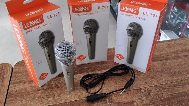 Microfone Profissional P10 com Esfera em Metal e Cabo 2.5 Metros - Foto 6