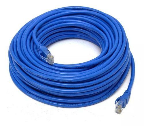 Cabo De Rede Rj45 Cat5e Internet Lan Azul Crimpado Pronto -1511 - Foto 2