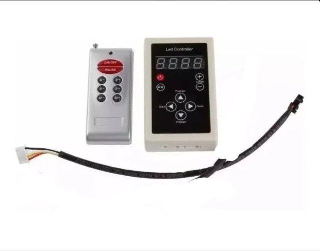 Controladora Controle Fita Led Digital 6803 Rgb com Fonte