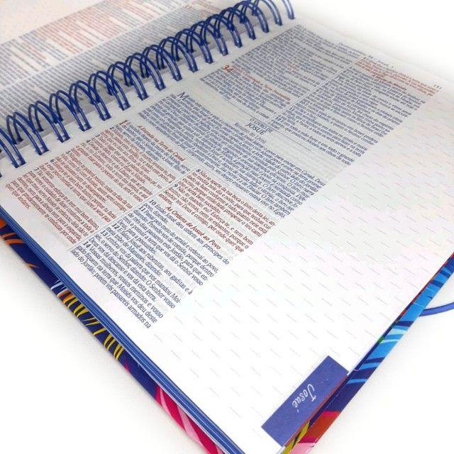 Bíblia Espiral Almeida de Anotações com Harpa - Foto 6