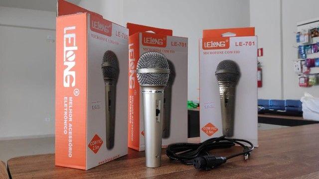 Microfone Profissional P10 com Esfera em Metal e Cabo 2.5 Metros - Foto 3