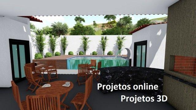 Plantas projetos desenhista 3D
