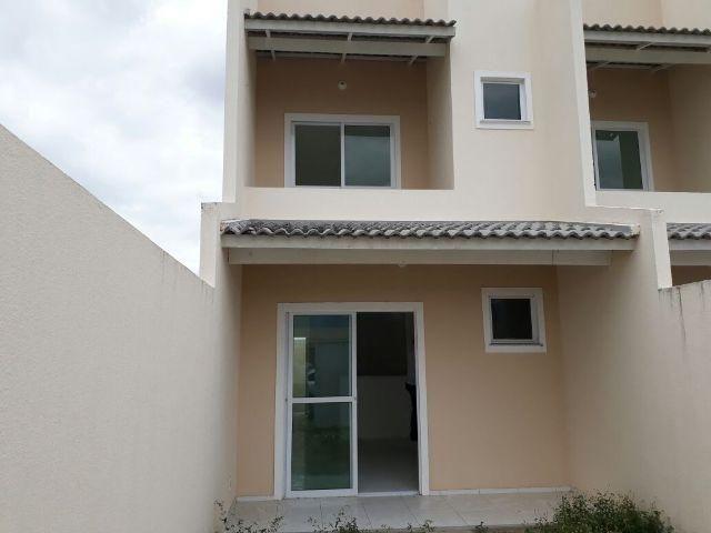 Documentação inclusa: duplex novo, 3 quartos, 2 banheiros, varanda, garagem, sala, cozinha