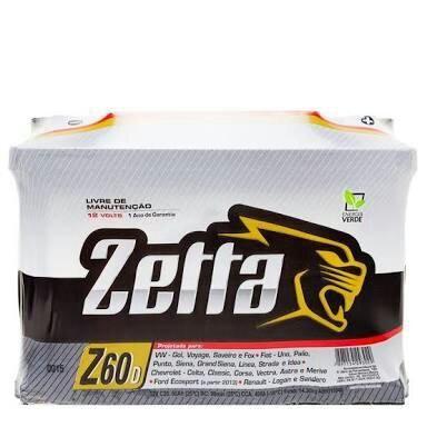 Bateria Zetta 60ah entrega grátis