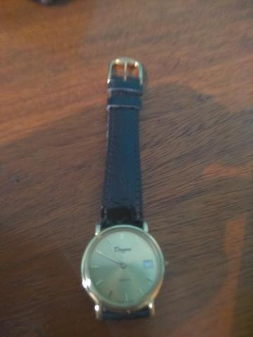 068a4789ada Relógio Dryzun Quartz banhado a ouro pulseira couro - Utilidades ...