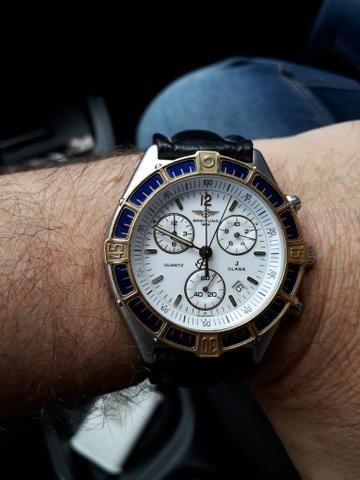 38b9463e18c Relogio breitling crono novinho catraca de ouro original ...