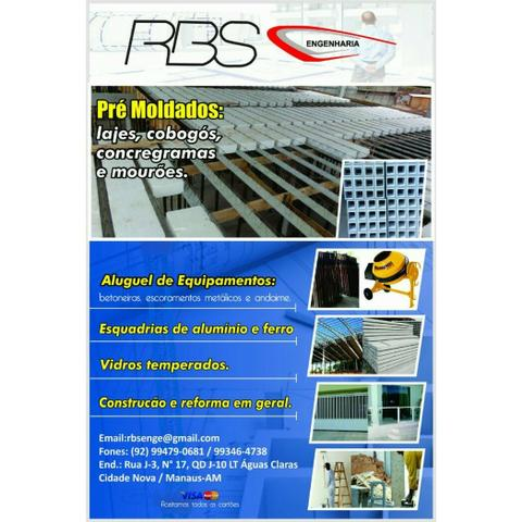 Rbs lajes pré moldadas r$=30,00/m²