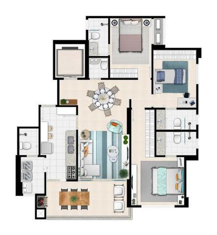 Apartamento de 3 quartos com 3 suítes no Setor Bueno - Foto 3