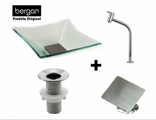 Kit lavabo de vidro - Foto 2