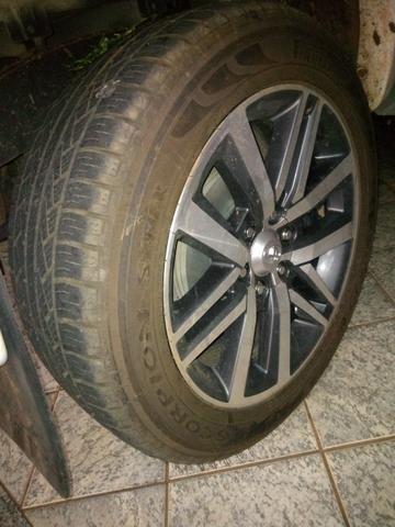 Rodas Toyota Hilux originais + pneus zeros - Foto 3