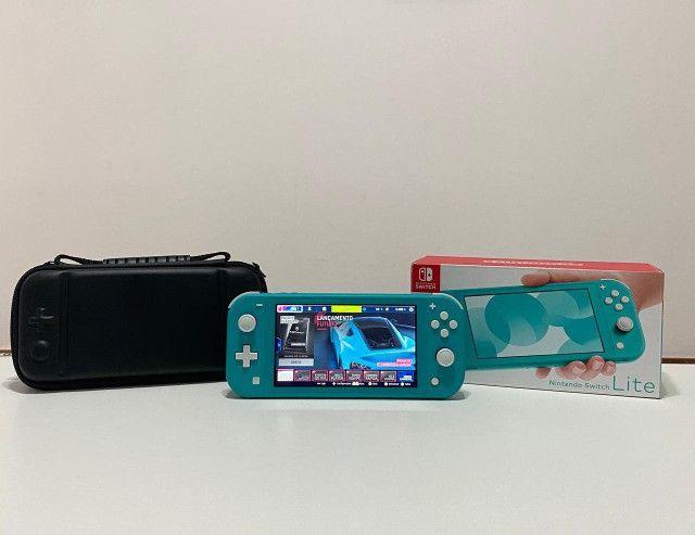 Nintendo Switch Lite - verde + case - Seminovo - Loja Física Centro de Niterói - Foto 3