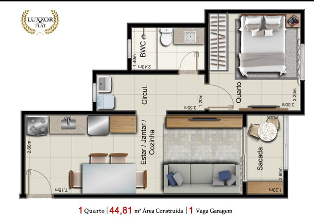 Venda- Apartamento tipo flat, novo,próximo ao Shopping Pantanal - Cuiabá MT - Foto 9