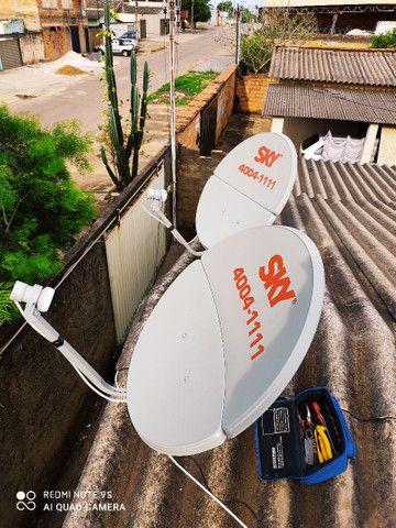Receptor e instalação de antena