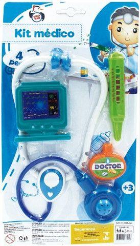 Brinquedo Kit Médico c/ 4pçs (Entrega Imediata)
