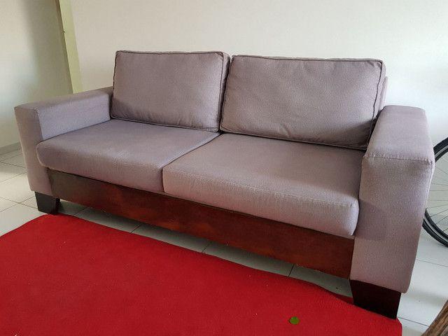 ABAIXOU!!! Vendo Sofá 3 lugares em tecido Sued - Foto 6