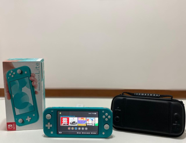 Nintendo Switch Lite - verde + case - Seminovo - Loja Física Centro de Niterói - Foto 2
