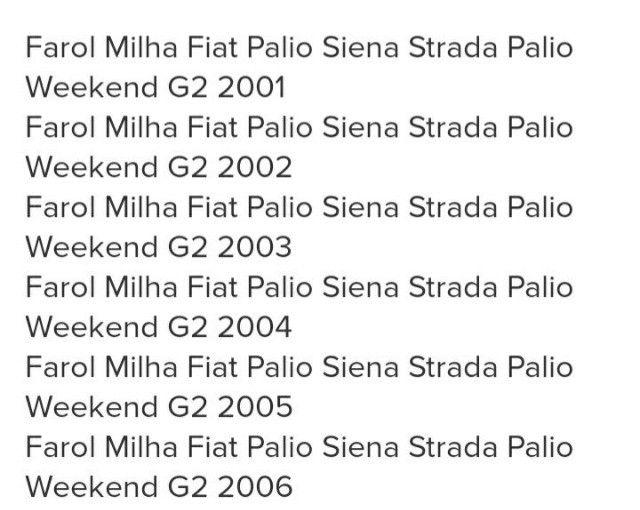 Kit Farol de Milha Palio, Siena 2001 a 2006 - Foto 3