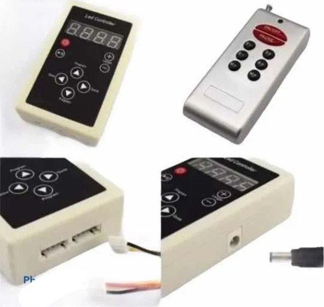 Controladora Controle Fita Led Digital 6803 Rgb com Fonte - Foto 5