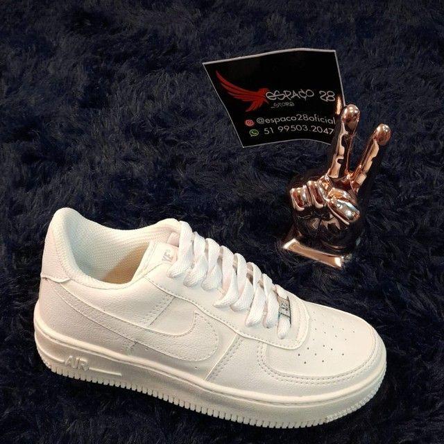 Tênis Nike Air force AF1 branco o mais top! - Foto 3