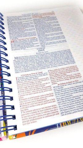 Bíblia Espiral Almeida de Anotações com Harpa - Foto 3