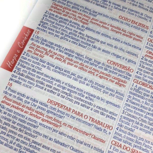 Bíblia Espiral Almeida de Anotações com Harpa - Foto 2