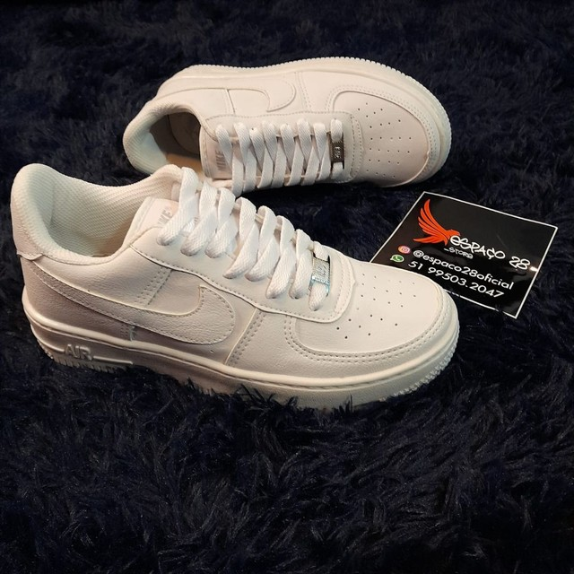 Tênis Nike Air force AF1 branco o mais top!