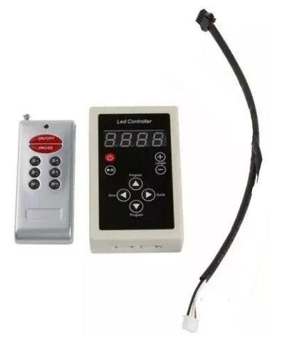 Controladora Controle Fita Led Digital 6803 Rgb com Fonte - Foto 3