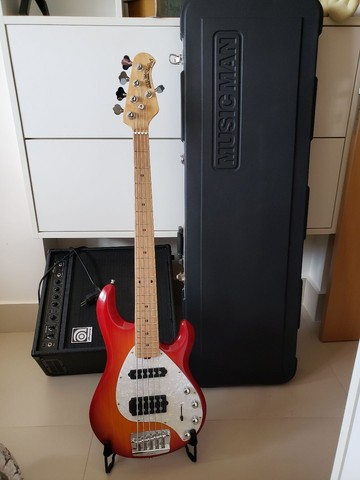Baixo Musicman stingray HS 5c  - Foto 5