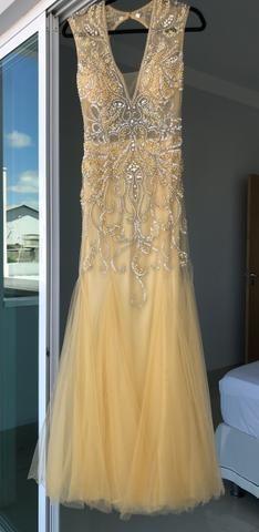 Vestido dourado bordado - Foto 3