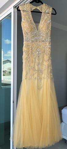 Vestido dourado bordado - Foto 4