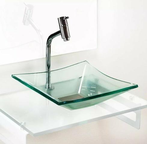 Kit lavabo de vidro