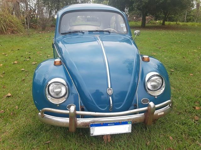 Fusca antigo 65 1965 azul relíquia